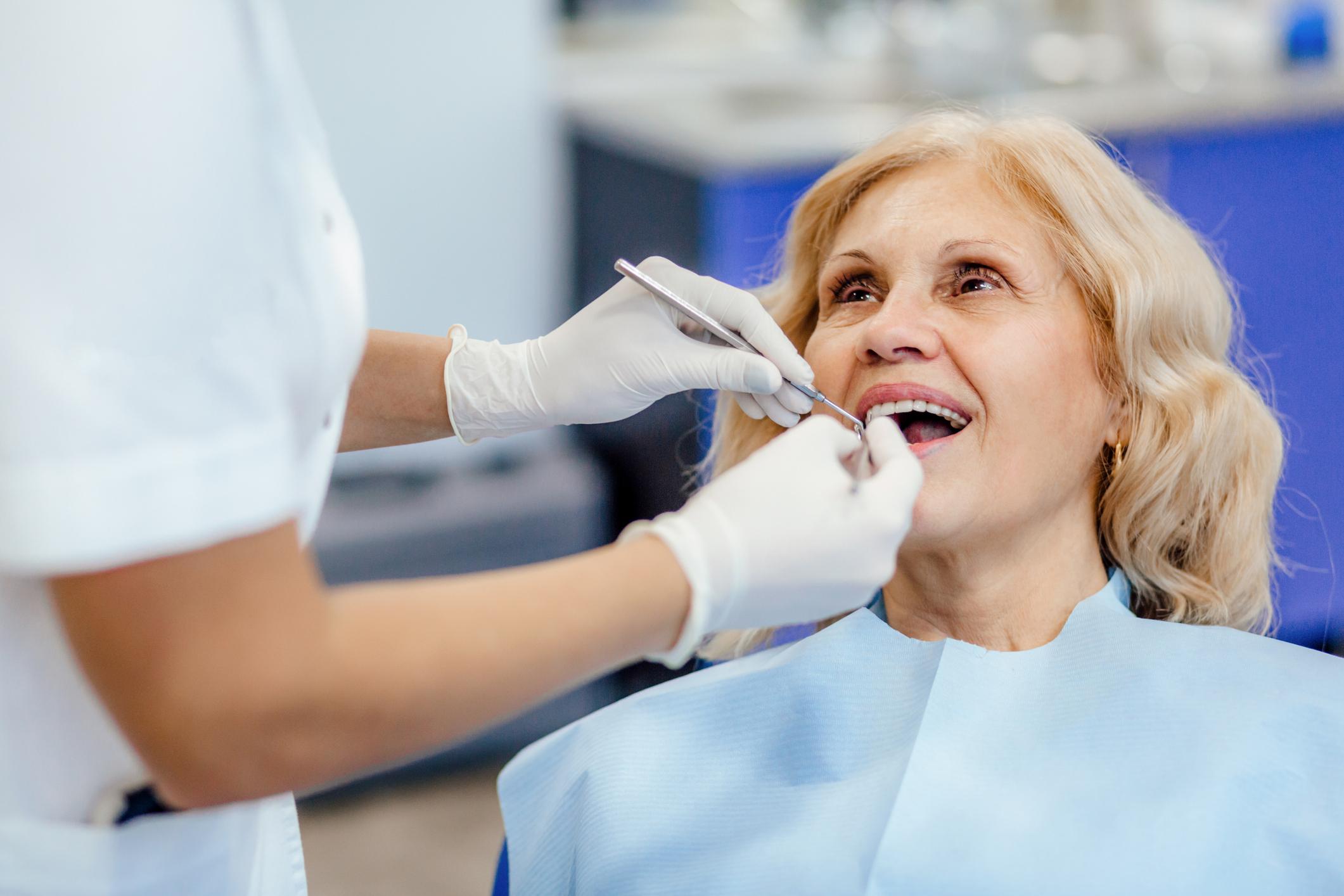 Regular checkup at the dentist